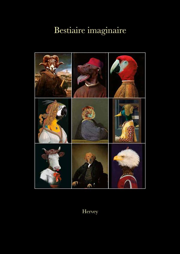 hervey, livre, bestiaire imaginaire, première de couverture