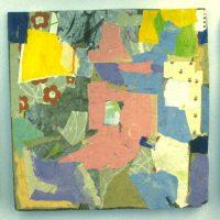 Hervey, peinture, enfantillages, collage, triptyque