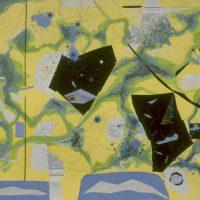 hervey, peinture, collage, cartes et itinéraires, séance de croquis entre Oppéde et Ménerbes