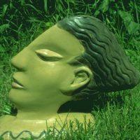 Hervey, sculpture, plâtre polychrome, couple arménien