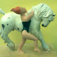 Hervey, sculpture, plâtre polychrome, Hommage à Toulouse Lautrec