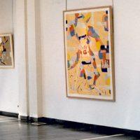 Hervey, peinture, collage, cartes et itinéraires, expo Espace de Joigny 2