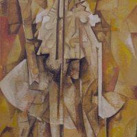 Hervey, peinture, tempera, Jean Tortel, Des corps attaqués, 124x80cm