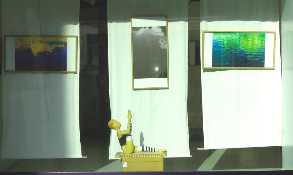 Hervey, expo CLAMECY/REFLETS de juillet 2018, vitrine 2
