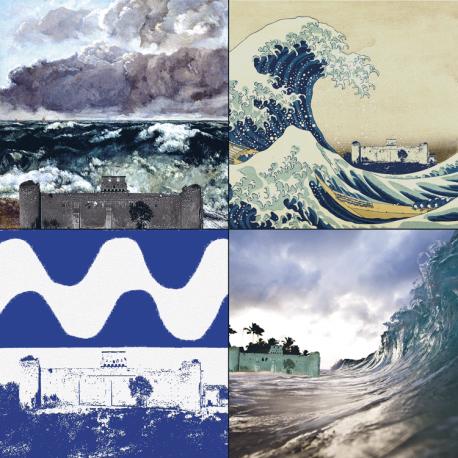 hervey, déclinaisons, gravure numérique, tsunami, vague scélérate