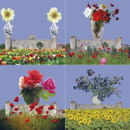 hervey, déclinaisons, gravure numérique, dites-le avec des fleurs