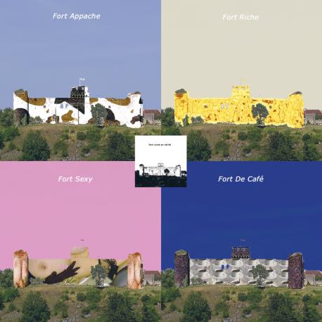 hervey, déclinaisons, gravure numérique, château fort