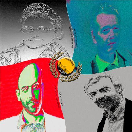 hervey, déclinaisons, gravure numérique, héros modernes
