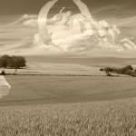hervey, digigraphie, nuagerie, Poussin, surgissement