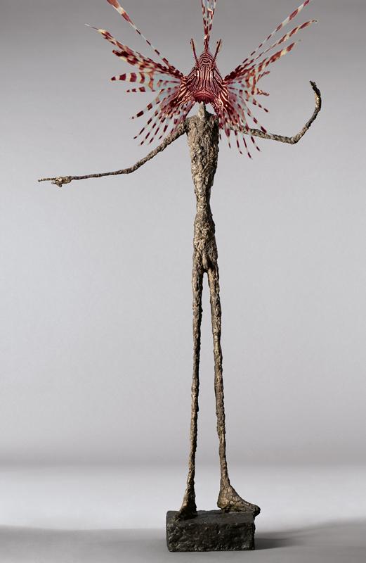 hervey, bestiaire imaginaire, digigraphie, gravure numérique, hommage à Giacometti