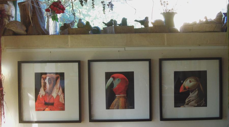 hervey, bestiaire imaginaire, expo atelier dans le jardin