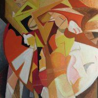hervey, peinture, huile, des corps attaqués, Jean Tortel 13