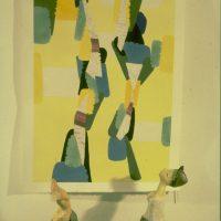 Hervey, peinture, sculptures, coin d'atelier