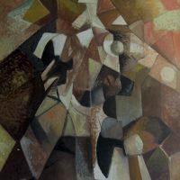 hervey, peinture, tempera, des corps attaqués, Jean Tortel 1