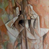 hervey, peinture, tempera, des corps attaqués, Jean Tortel 3