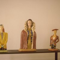 Hervey, sculpture, plâtre polychrome, expo galerie Serrero3