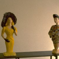Hervey, sculpture, plâtre polychrome, expo galerie Serrero