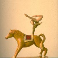 hervey, sculpture, plâtre polychrome, l'artiste