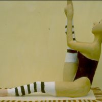 Hervey, sculpture, plâtre polychrome, exercice1