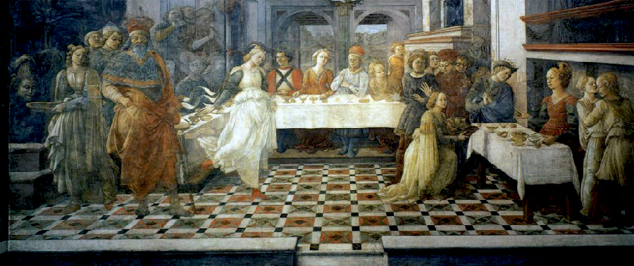 Filippo Lippi, le banquet d'Hérodote