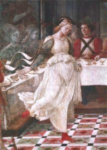 filippo lippi, détail Salomé dansant
