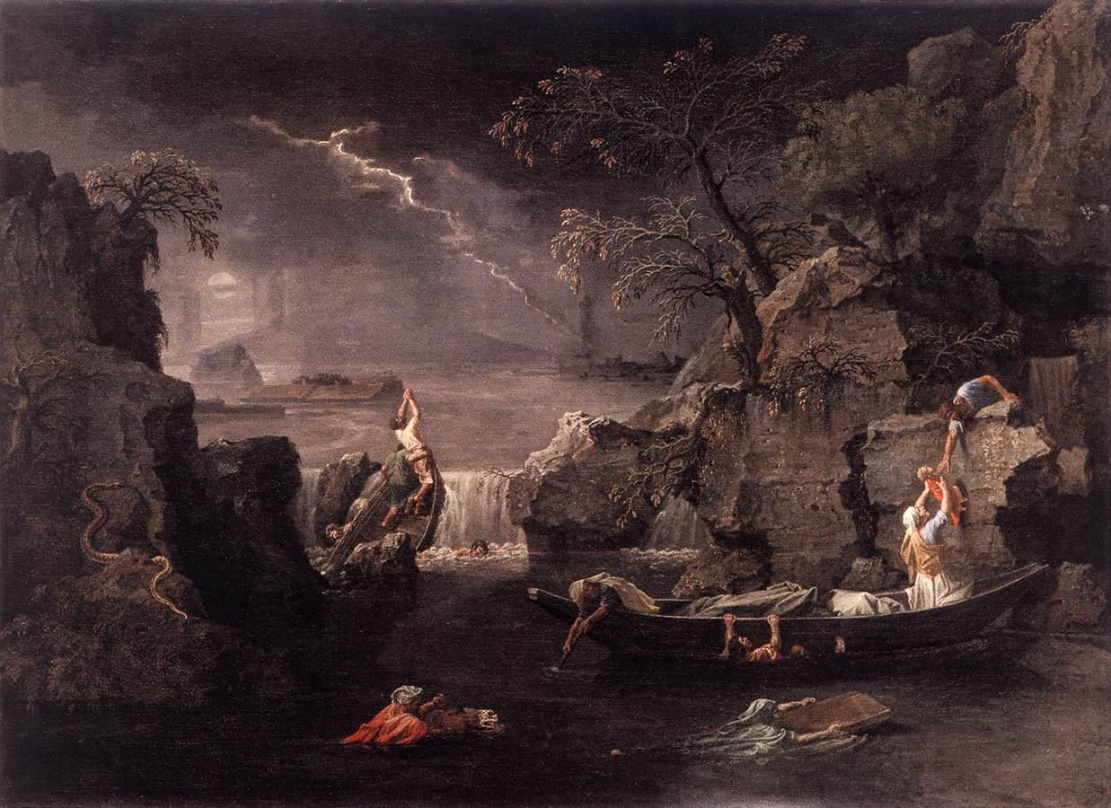 """Nicolas Poussin, """"L'hiver ou le déluge"""" 1660-1664"""