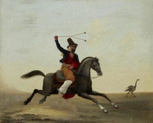 Gauchos chassant le Rheas