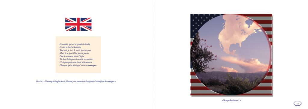 Hervey Nuagerie, double page, texte et image