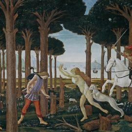 Botticelli L'Histoire de Nastagio Degli Onesti 1