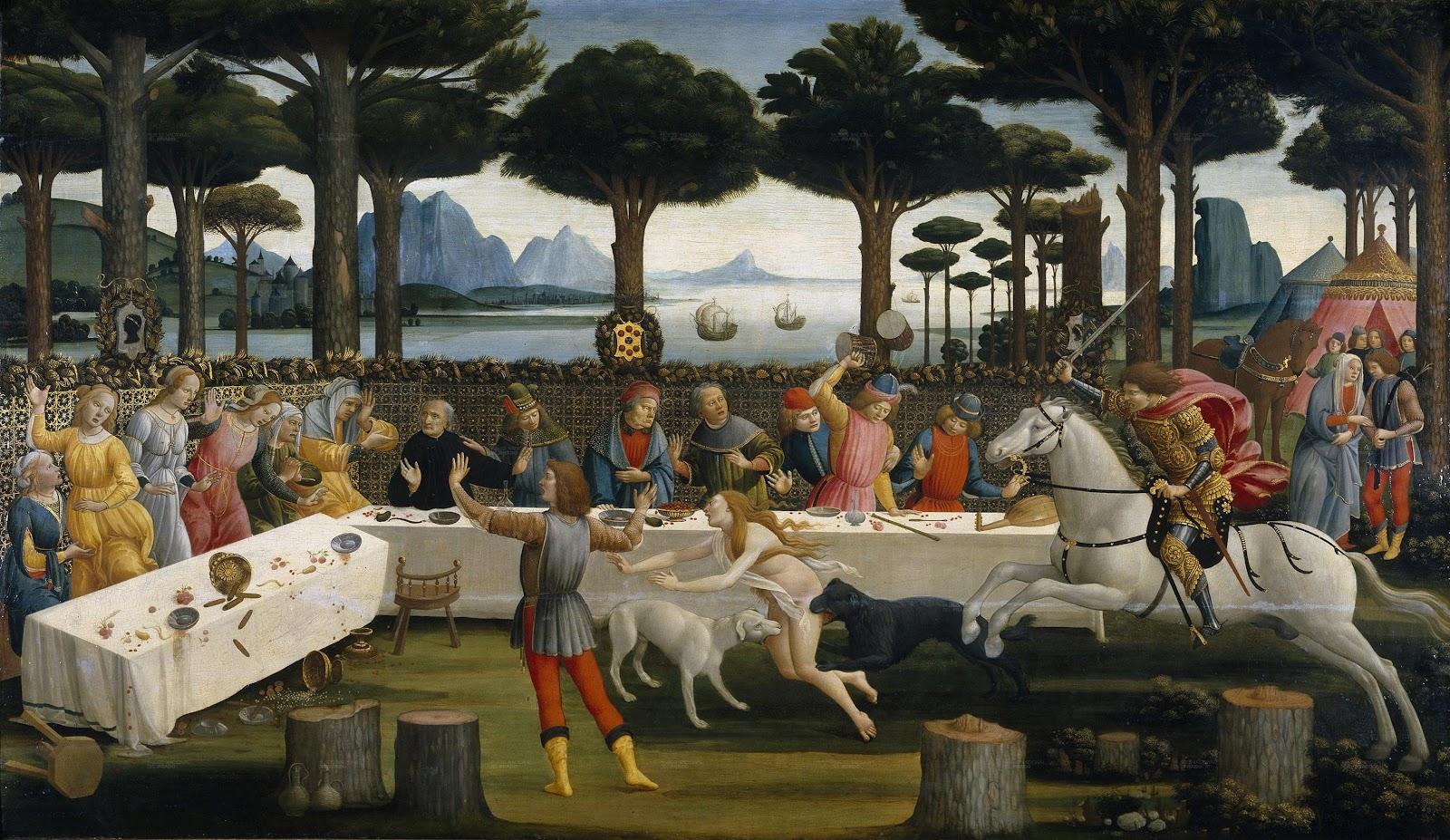 Sandro Botticelli L'Histoire de Nastagio Degli Onesti 3