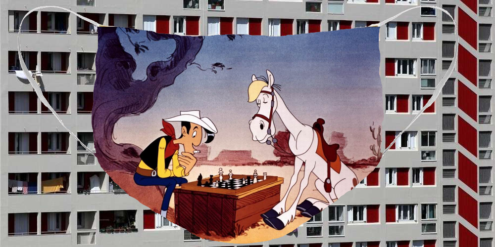 Hervey, masque, BD, Lucky Luke