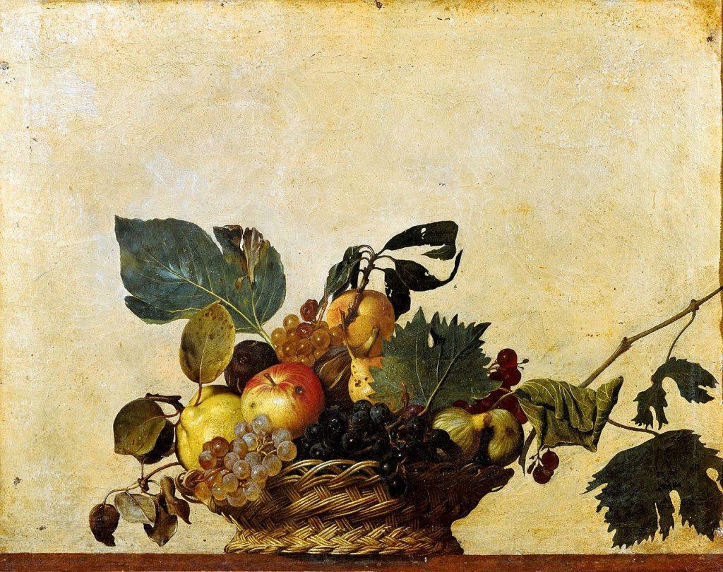 Caravage Corbeille de fruits Pinacothèque de Milan