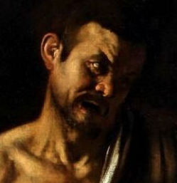 "Portrait supposé de Caravage dans ""La flagellation du Christ"""