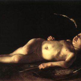 Caravage Cupidon endormi Palais Piti Florence 1608