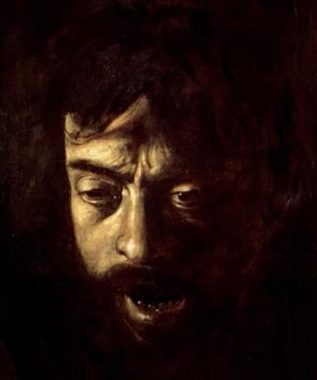 Caravage Autoportrait 3 en Goliath
