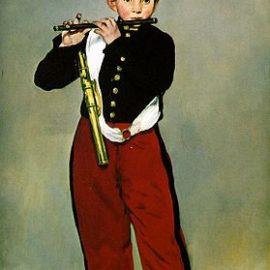 Manet Le petit joueur de flute.